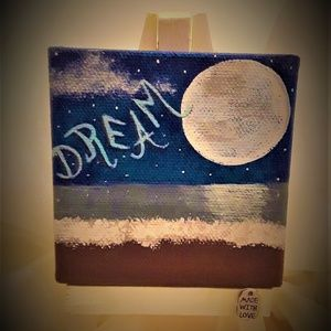 "Dream Away - mini canvas art original 3"" x 3"""
